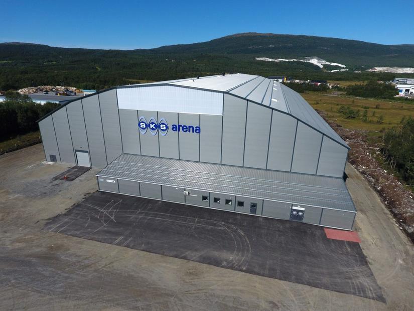 SKS Arena ble ferdigstilt i 2016 og ligger på Fauske. Hallen eies og driftes av FK Fauske/Sprint: Foto: Espen Johansen