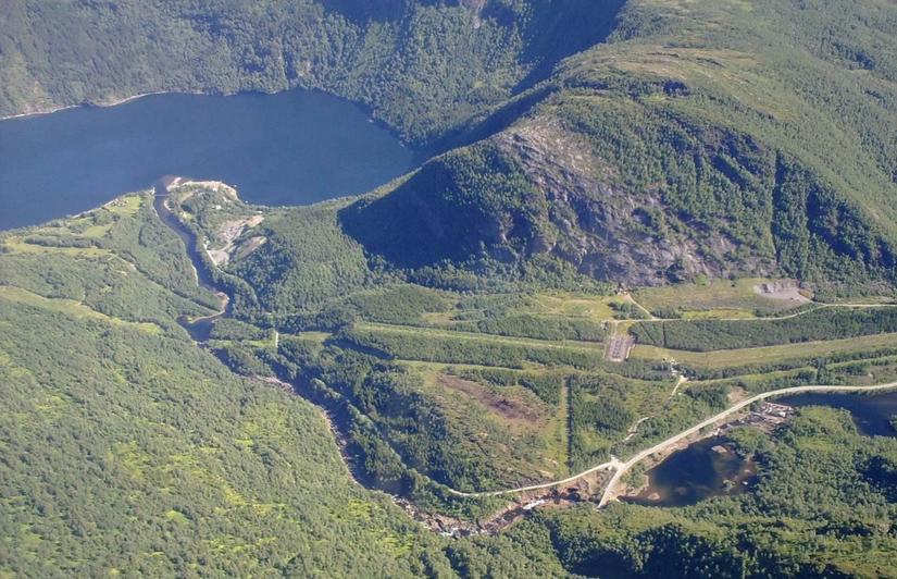 Sjønståfossen, nedre del av Sulitjelmavassdraget